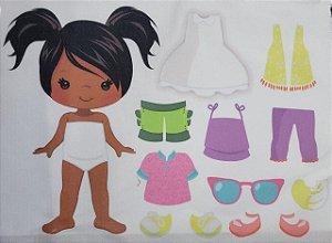 Menina de vestir cute 9