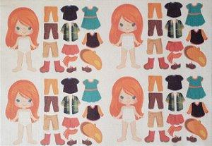 Mini Menina de vestir cute