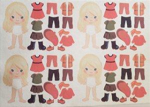 Mini Menina de vestir cute 2