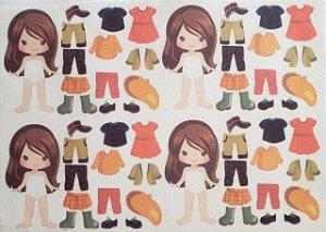 Mini Menina de vestir cute 3