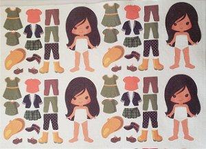 Mini Menina de vestir cute 4