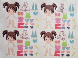 Mini Menina de vestir cute 5