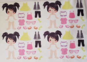 Mini Menina de vestir cute 8