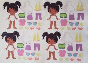 Mini Menina de vestir cute 9