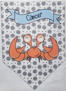 Flamula Signo com desenho Câncer