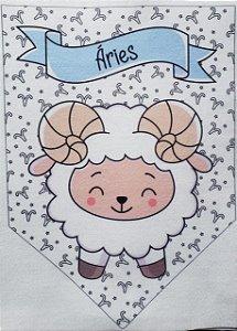 Flamula Signo com desenho Aries