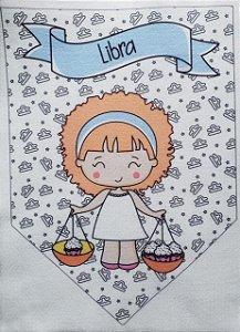 Flamula Signo com desenho Libra