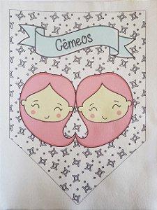 Flamula Signo com desenho Gêmeos