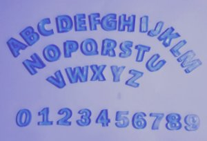 Mini Alfabeto Didático + kit numeral resina Azul
