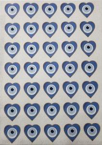 Coração Olho Grego - Para clips