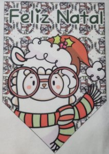 Flamula Lhama Feliz Natal 3