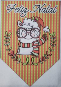 Flamula Lhama Feliz Natal 2