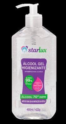 Álcool em Gel Cristal 422G 6 Unidades Starlux