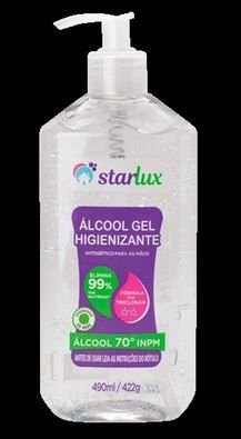 Álcool em Gel Cristal 422G Com Fragrância 422G 6 Unidades Starlux