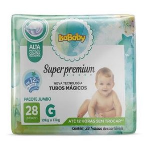 Fralda Super Premium Jumbo G 8 Pacotes Com 28 Unidades Isababy