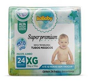 Fralda Super Premium Jumbo XG 8 Pacotes Com 24 Unidades Isababy