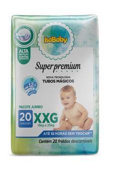 Fralda Super Premium Jumbo XXG 8 Pacotes Com 20 Unidades Isababy