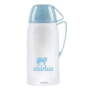 Garrafa Térmica Suprema 1 Litro Branco/Azul Starlux