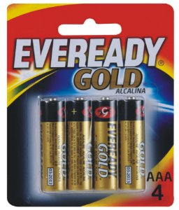 Pilha Alcalina Gold Palito AAA4 48 Pacotes Com 4 Unidades Eveready
