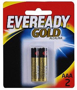 Pilha Alcalina Gold Palito AAA2 48 Pacotes Com 2 Unidades Eveready