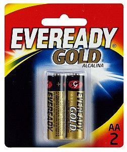Pilha Alcalina Gold Pequena AA2 48 Pacotes Com 2 Unidades Eveready