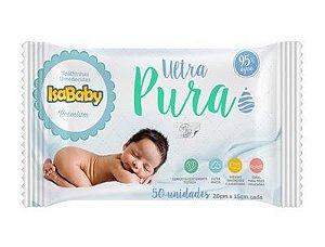 Toalha Umedecida Ultra Pura Com Etiqueta Rígida 24 Pacotes Com 50 Unidades Isababy