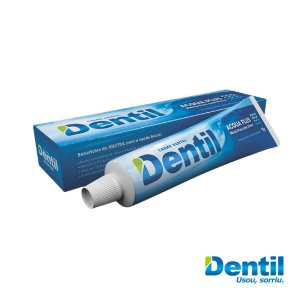 Creme Dental Dentil Acqua Plus Menta c/ Xilitol (sem flúor) 90grs.