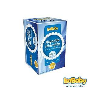 Algodão Hidrófilo IsaBaby 50g ( Sua composição é 100% algodão )..