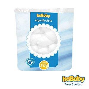 Algodão Bola IsaBaby 50g ( desenvolvido para remoção de maquiagem )