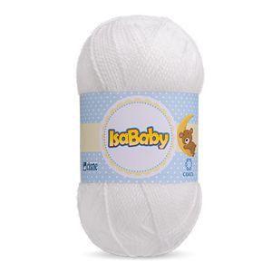 Lã IsaBaby Cisne 40g Branca ( Trata-se de uma linha 100% acrílica )