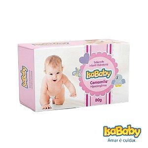 Sabonete Infantil Hidratante IsaBaby Camomila 80g. loção hidratante