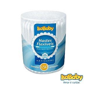 Haste Flexível IsaBaby Pote 150 Unidades (com pontas de algodão)...