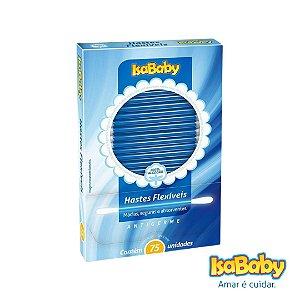 Haste Flexível IsaBaby 75 Unidades ( possui solução antigerme )...