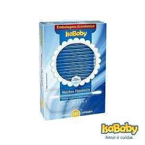 Haste Flexível IsaBaby 150 Unidades  ( com pontas de algodão )...