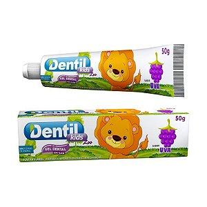 Gel Dental Dentil Kids Zoo Uva c/ Flúor 50g