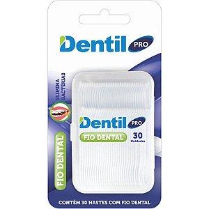 Fio Dental Dentil Pro com Haste 30 Unidade ( Possui dupla ação )...