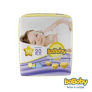 Fralda IsaBaby Premium Jumbo XXG 20 Unidades (algodão muito macio)