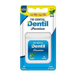 Fio Dental Dentil Premium Leve 100 Pague 50 metros sabor de menta