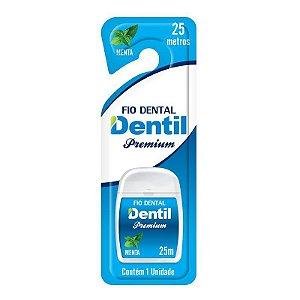 Fio Dental Dentil Premium 25 metros Com um agradável sabor de menta