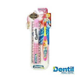 Escova Dental Dentil Kids Cinderela com Régua possui cerdas macias