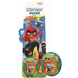 Escova Dental Dentil Angry Birds com Fio Dental