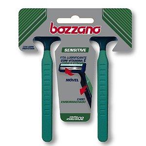 Aparelho de Barbear Bozzano Sensitive 2 Lâminas com 2 unidades