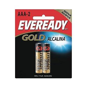 Pilha Eveready Alcalina Gold Palito AAA2 1x2
