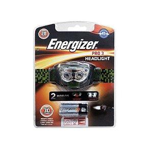 Lanterna Energizer Mãos Livres 3 Led com 3 Pilhas AAA3 Preta