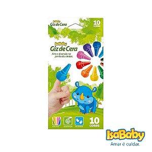 Giz de Dedo Isababy Zoo Maped 10 Cores ( Estimula a coordenação ).