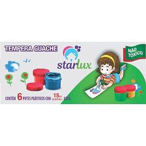 Tinta Guache Starlux 6 Unidades com 15ml (Cores Miscíveis Entre Si)