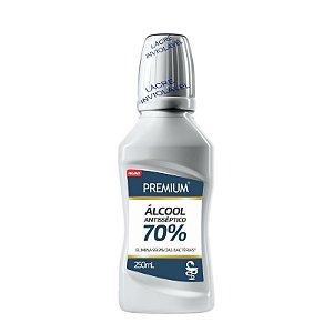 Alcool Antisseptico 70% Premium Vegano 250ml