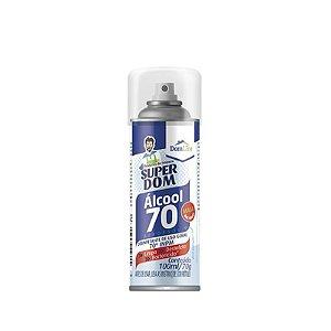 Álcool Aerossol 70% Desinfetante Uso Geral 100ml - Linha Super Dom