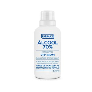 Alcool 70% Cosmetico Temp. Farmax 100ml