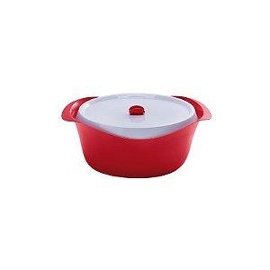 Caçarola Oval Vermelha com Tampa Starlux 2,5 litros